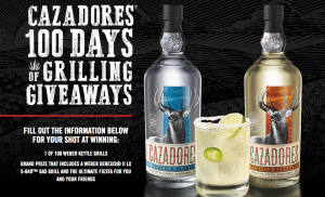 Bacardi – The Cazadores Summer Grilling – Win a grand prize of a Webber Genesis II LX S-640 LP gas grill & a party for 30 people OR 100 Daily prizes