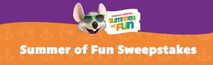 CEC Entertainment – Chuck E. Cheese's Summer of Fun – Win 1 of 10 Carnival Cruise Line gift cards valued at $2,800 each