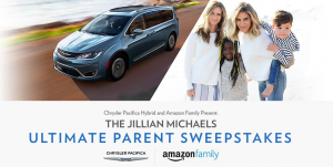 FCA US – Chrysler Pacifica Hybrid and Amazon Family Present: The Jillian Michaels Ultimate Parent – Win a 2017 Chrysler Pacifica Hybrid Platinum & a trip for 4 to Malibu or hundreds of other prizes