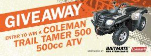 Mills Fleet Farm – Dads Day ATV – Win a Coleman Trail Tamer 500 – 500cc ATV valued at $6,500