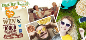 Snyder's-Lance – #SnackSnapShare – Win a grand prize of a family vacation valued at $10,000 OR Weekly and Daily prizes