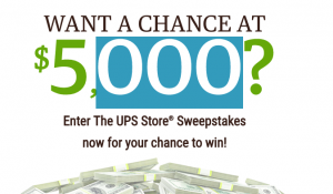 The UPS Store 2017 – Win a grand prize of a $5,000 prepaid gift card OR 1 of 6 minor prizes