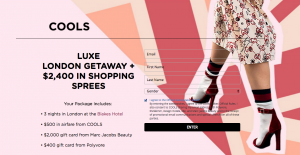 COOLS – Win a Luxe London Getaway plus $2,400 in shopping sprees