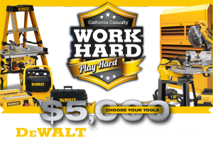 California Casualty Management Company – Win a grand prize of a selection of DeWALT tools valued at $5,000