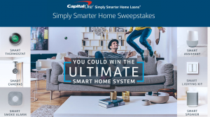 Capital One – Simply Smarter Home – Win 1 of 6 smart home packages valued at $2,785 each OR 1 of 12 Google Homes