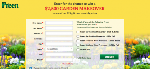 Lebanon Seaboard – Preen – Win 1 of 2 grand prizes of a $2,500 Garden Makeover each OR 1 of 80 Monthly Visa Gift Cards
