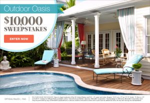 Martha Stewart – Win $10,000 for the Outdoor Oasis