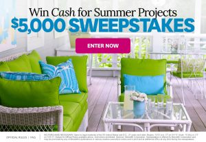 Meredith – Better Homes & Gardens – Win $5,000 cash for Summer Projects