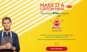 Pepsi/Lipton Tea – Lipton Summer – Win 1 of 45 trips for 2 to New York to attend the Food Network Star Event valued at $2,850 each