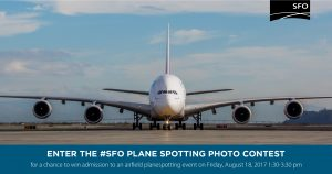 San Francisco Airport – #SFO Plane Spotting – Win 1 of 30 prizes of an admission for 1 person to an airfield plane spotting event at SFO