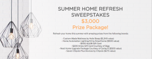 Smarthome – Summer Home Refresh – Win a grand prize valued at $3,220