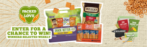 Snacks National – Snyder's Lance – Back To School Mega Event – Win 1 of 6 grand prizes OR 1 of 90 Weekly prizes