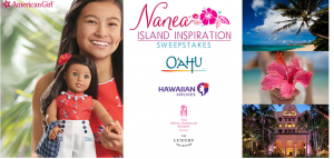American Girl – Nanea – Win a grand prize of a trip for 4 to Honolulu & a Nanea doll OR 1 of 10 Nanea dolls