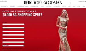 Bergdorf Goodman – Win a $5,000 Bergdorf Goodmand shopping spree