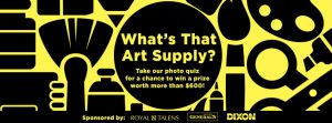 """Blick Art Materials – """"What's That Art Supply"""" – Win 1 of 5 prize packs from Royal Talens, General Pencil, and Dixon valued at over $610"""