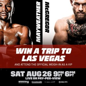 CBS Local Sports – Win a trip for 2 to Las Vegas and attend the Official Weigh-In OR 1 of 78 minor prizes