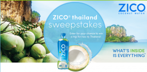 Coca-Cola – ZICO Thailand – Win 1 of 3 trip packages for 2 to Thailand valued at $9,100 each