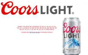 Coors Brewing Company – Coors Light Sustainability – Win 1 of 882 quarter barrel keg grills valued at $285 each