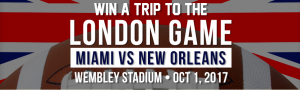 Deminole Hard Rock Hollywood – London Game – Win a trip to Wembley Stadium