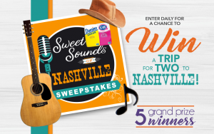 Domino Foods – Sugar Sweet Sounds of Nashville – Win 1 of 5 Nashville, Tennessee Trip packages for 2 valued at $6,500 each