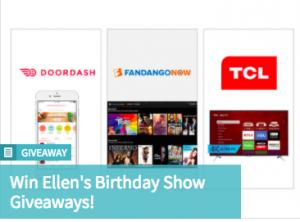 Ellen TV – Win Ellen's Birthday Show Giveaways