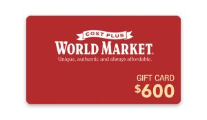 Ellen TV – Win a $600 Cost Plus World Market Gift Card