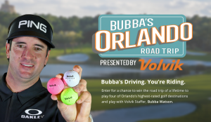 Golf Advisor – Bubba's Orlando Road Trip Presented by Volvik – Win a 5-day trip for 4 to Orlando, FL valued at $20,942
