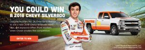 Hooters – Win a 2018 Chevrolet Silverado 1500 LTR double cab 2-wheel drive valued at $33,105