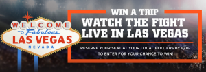 Hooters – Your Ticket to Vegas – Win a trip for 2 to Las Vegas valued at $3,000