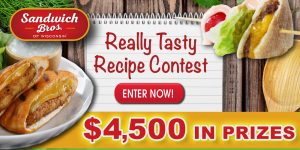 Kangaroo Brands – Sandwich Bros Really Tasty Recipe – Win 1 of 10 prizes of 1 Year Supply of Sandwich Bros plus $500