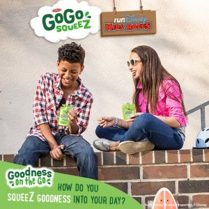 Materne North America – GoGo squeeZ On-Wall – Win 1 of 3 vacation packages for 4 at the Walt Disney World Resort valued at $4,834