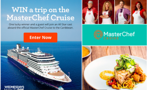 Meredith – Family Circle – The Sail Away with MasterChef – Win a trip prize package for 2 on the MasterChef Cruise valued at $3,700