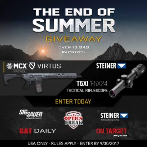 On Target Magazine – The SIG – Steiner End of Summer – Win a prize package valued at over $3,840