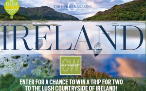 Oprah Magazine – Country Walkers Ireland – Win a 7-day self-guided walking adventure for 2 in Ireland valued at $11,435
