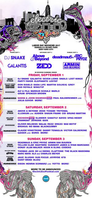 """SiriusXM – Electric Zoo """"The 6th Boro"""" – Win a trip for 2 to New York valued at $3,000"""