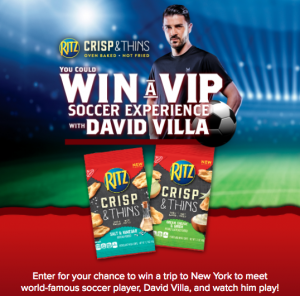 TMPG – Win With Ritz – Win a trip for 2 to attend the New York City Football Club valued at $6,975