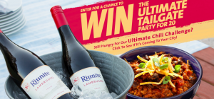 VB Imports – Riunite Ultimate Tailgate Party – Win a Party package for 20 people valued at $22,000 OR 1 of 5 minor prizes