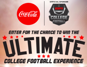 Coca-Cola – Boston Market Fall Football – Win a trip for 4 to see a college football game valued at $8,480