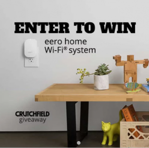 Crutchfield – Eero Home Wifi Great Gear – Win 1 of 2 Eero home Wifi systems valued at $399 each