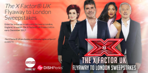 Dish Network & AXS TV – The X Factor UK Finale Show Trip Experience – Win a trip for 2 to London valued at $9,450
