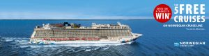 Expedia CruiseShipCenters – Win 1 of 5 Free Cruises for 7 nights for 2 valued at $1,600USD each