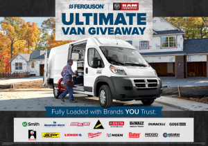 Ferguson – Ram Ultimate Van – Win a 2018 Ram ProMaster Van valued at $45,000 MSRP PLUS a construction related tool package valued at $60,000