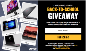 Laptop Magazine – Back-to-School – Win a grand prize of an Alienware 13 Oled Laptop valued at $2,000 OR 1 of 4 minor prizes