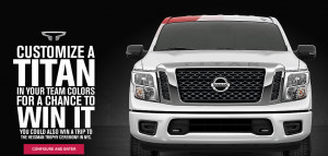 Nissan – Heisman House – Win a 2017 Nissan Titan, 2WD, Crew Cab SV vehicle valued at $50,000 OR a trip for 2