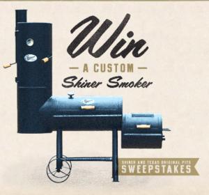 Shiner Beer – BBQ VIP – Win 1 of 5 Shiner branded Texas Original Pits Smoker with Firebox valued at $1,500