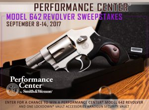 Smith & Wesson – Win a Performance Center Model 642 Revolver & a Lockdown Vault Accessories Handgun Security Vault valued at $570
