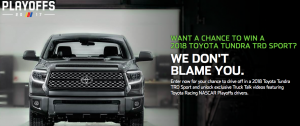 teamDigital Promotions – 2017 Monster Energy NASCAR Cup Playoffs Presented by Toyota – Win a grand prize package valued at $48,500 OR 1 of 8 trips for 2