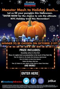 American Artists Limited – 2017 Broadway in Boston Christmas in New York – Win a trip for 2 to New York valued at $5,496