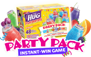 American Beverage – Little Hug Party Pack – Win a $2,500 Little HUG Party Cash gift card OR 1 of 150 Instant-Win Game prizes