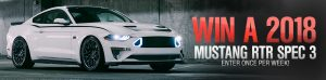 American Muscle – Win a 2018 RTR Spec 3 Mustang valued at $87,628